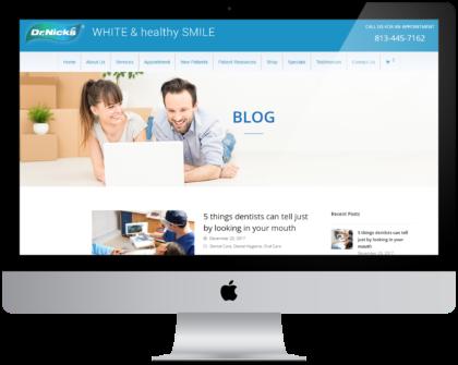 Website Blog Desktop